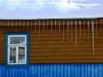 Large icicles Stock Photography