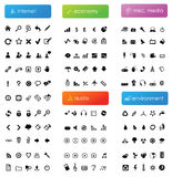 Large Icon Collection Stock Photo