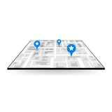 Large icon gps navigation Royalty Free Stock Photos