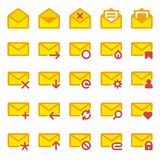 Large icon set e-mail Stock Images