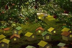 Large Illuminated Christmas Tree Decoration Royalty Free Stock Photography