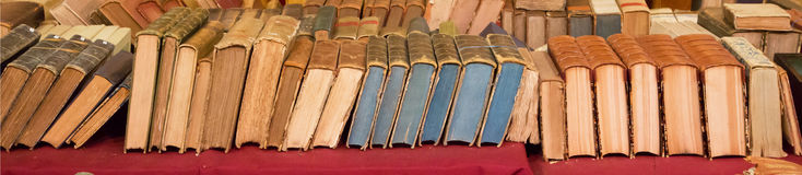 Large image of old books Stock Photography