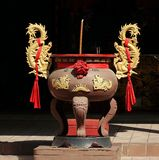 Large Incense Burner with Golden Dragons Royalty Free Stock Photos