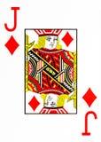 Large index playing card jack of diamonds stock images