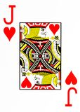 Large index playing card jack of hearts royalty free illustration