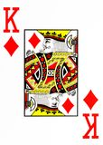 Large index playing card king of diamonds. American deck stock illustration