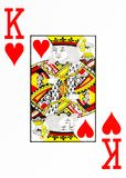 Large index playing card king of hearts. American deck stock illustration