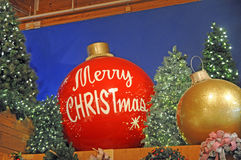 Large indoor christmas or holiday display Stock Photo