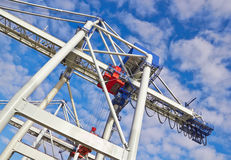 Large industrial crane Stock Image