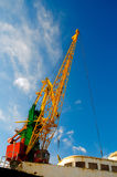 Large industrial crane for cargo Stock Photos