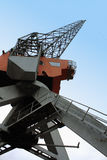 Large industrial crane for cargo containers in port Royalty Free Stock Image