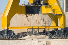 Large Industrial Crane Feet Stock Images