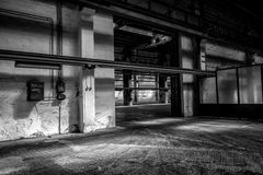 Large industrial door Stock Images