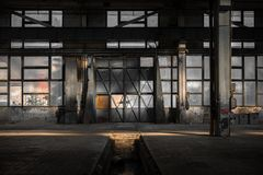 Large industrial door Stock Photography