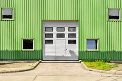 Large industrial door on a warehouse royalty free stock photo