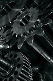 Gears in a titanium and steel concept Stock Image