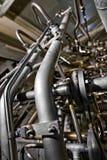 Large industrial generator closeup Stock Photos