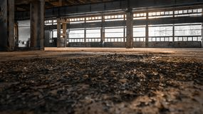 Large industrial hall of a repair station Stock Photography