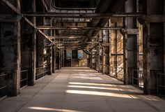 Large industrial hall of a repair station Royalty Free Stock Photography