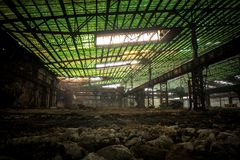 Large industrial hall under construction Royalty Free Stock Images
