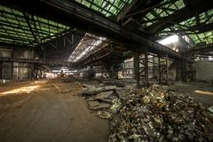 Large industrial hall under construction Royalty Free Stock Photos