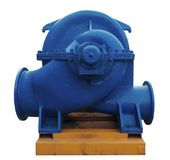 Large industrial heating water pump Stock Photos