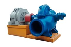 Large industrial heating water pump Royalty Free Stock Photos