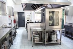 Large Industrial Kitchen Stock Images