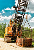 Large industrial machine closeup Stock Image