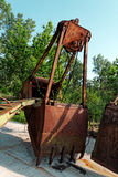 Large industrial machine on the shore Stock Image