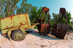 Large industrial machine on the shore Royalty Free Stock Image
