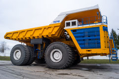 Large Industrial Mining Dump Truck BelAZ Background Royalty Free Stock Images