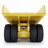 Large industrial mining dump truck rear view on an  white background Stock Images