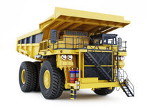Large industrial mining dump truck on an  white background. Royalty Free Stock Photo
