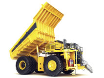 Large industrial mining dump truck on an  white background. Royalty Free Stock Image