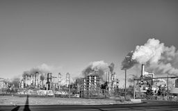 Large industrial plant Royalty Free Stock Photos