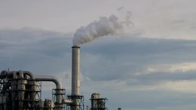 Large industrial plant stock footage