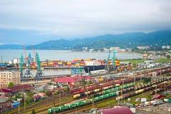 Large industrial port. Batumi, Georgia Royalty Free Stock Photography
