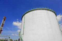 Large industrial silo with blue sky Royalty Free Stock Images