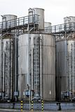 Large industrial silo outdoors Royalty Free Stock Image