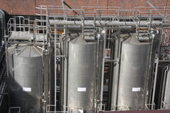 Large industrial tanks Stock Image