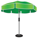 Large industrial umbrella. On a steel rack. Vector drawing Stock Photos