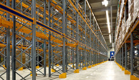 Large industrial warehouse royalty free stock photos
