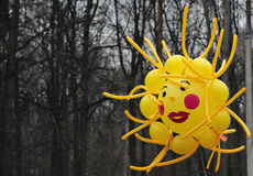 Large inflatable toy in the form of the sun. Stock Image