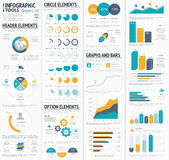 Large infographic vector elements template designe