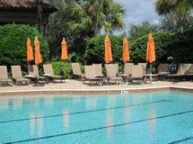 Large inground swimming pool stock image