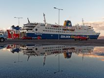 Greek Island Ferry, Rafina Port Stock Image