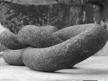 Large iron chain stock image
