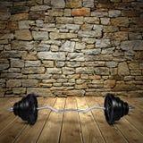 Large iron dumbbell Royalty Free Stock Images