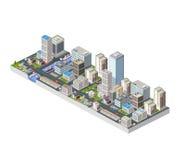 Large isometric city Stock Photo